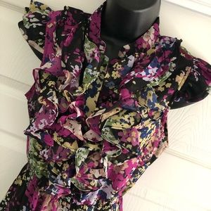 Floral Ali and Kris Ruffle Blouse